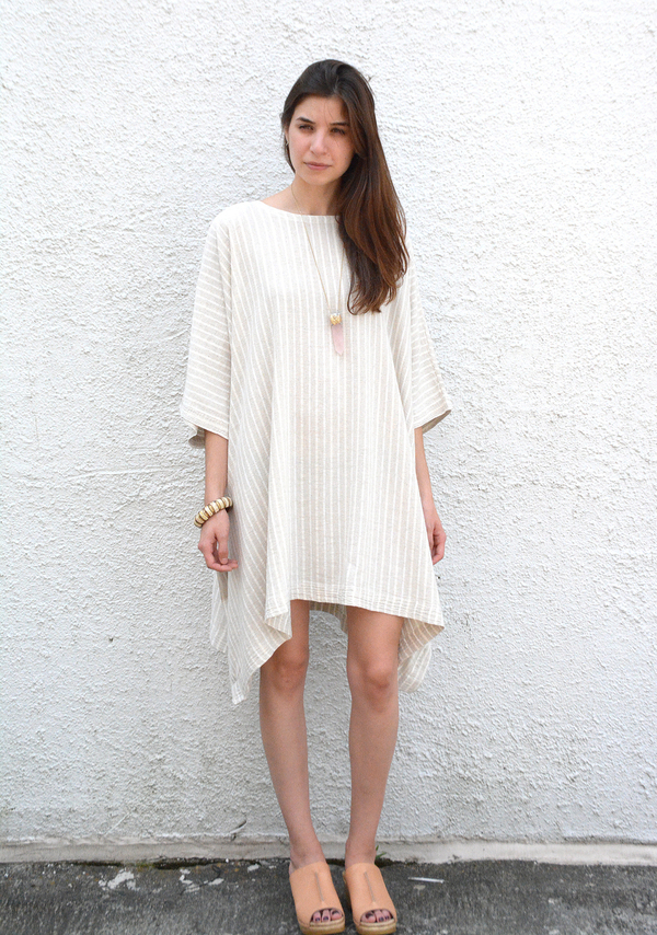 Tienda Ho Austria Tunic in Striped Linen