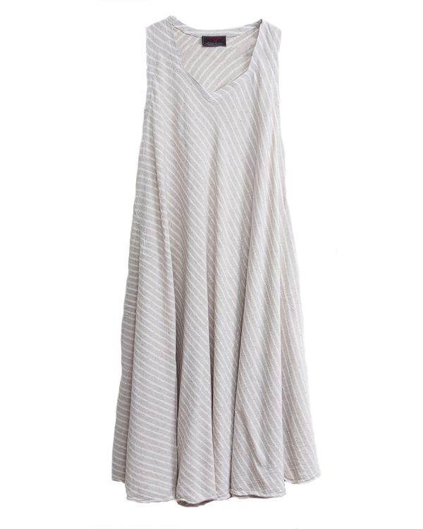 Tienda Ho Zohra Dress in Striped Linen