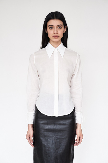 Assembly New York Voile Butterfly Collar Blouse