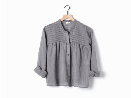 Masscob Pinstripe Blouse