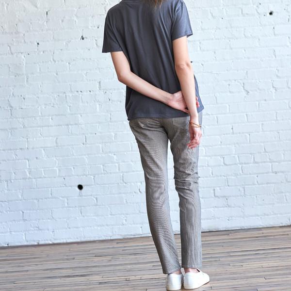 6397 Mini Skinny Black/White Stripe