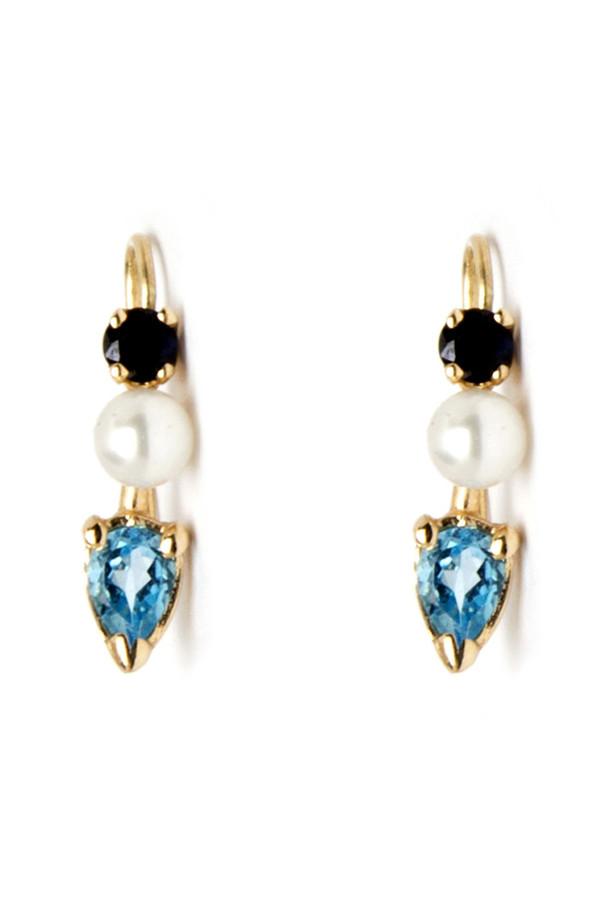 Loren Stewart Blue Bud Earrings