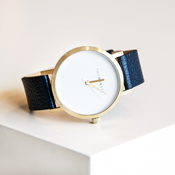 The Horse Original A16 Brushed Gold Navy Band