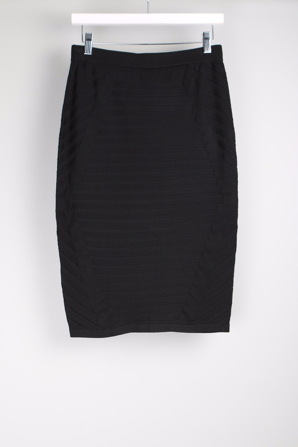 Jonathan Simkhai Diagonal Rib Pencil Skirt