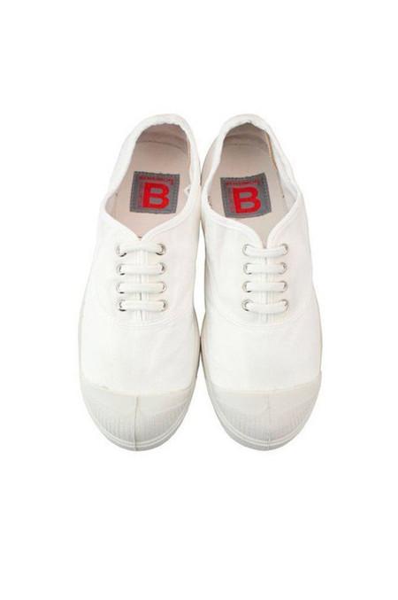 Bensimon Lace Up Tennis, White