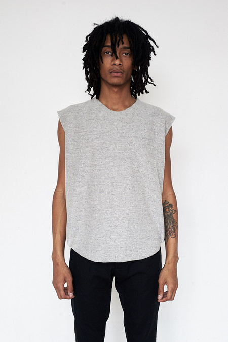 Assembly New York Cotton Reverse Terry Muscle Tee - Grey