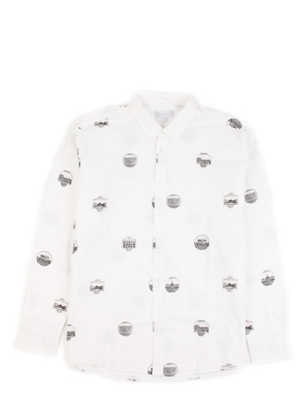 Soulland - Printed Button Down White