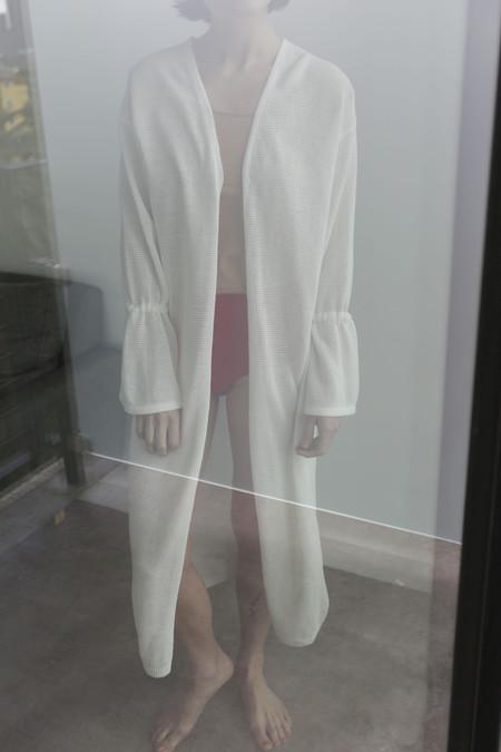 Sayaka Davis Summer Knit Robe in Horn White