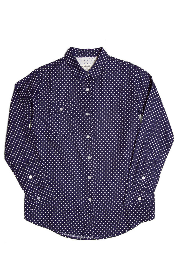 Bridge & Burn Bird Blue Polka