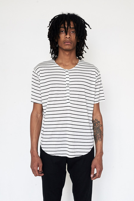 Assembly New York Cotton Reverse Terry Henley - Stripe