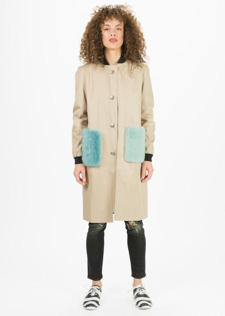 Anne Vest Coral Fur Pocket Coat