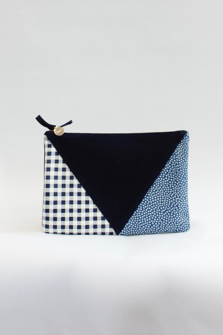 Clare V. Patchwork clutch