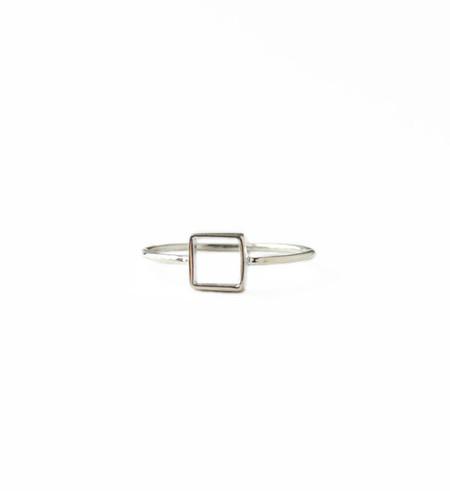 Mociun Silver Square Ring