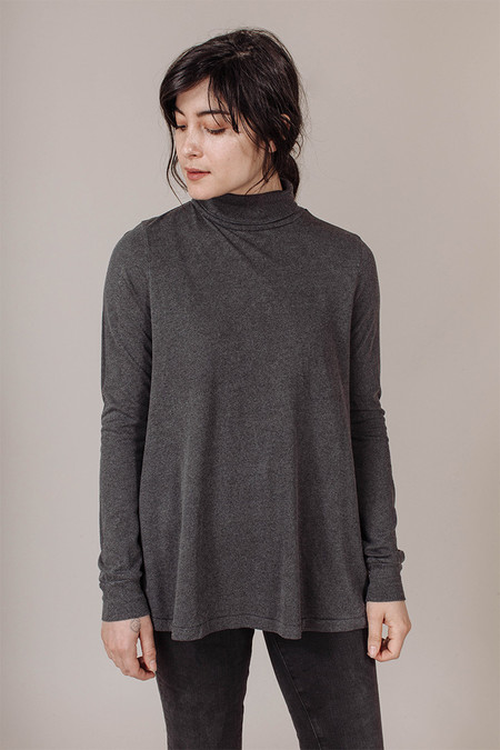 The Great Turtleneck in Charcoal Heather