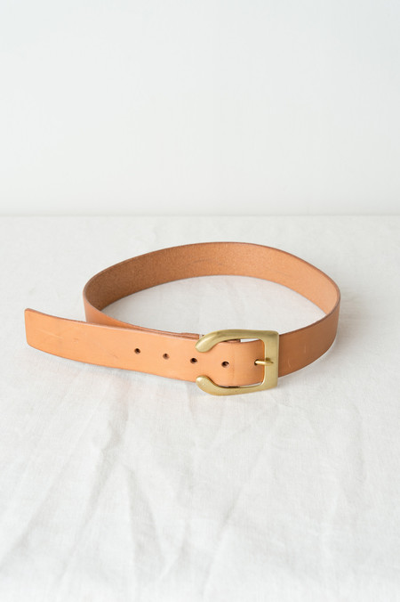 "KikaNY B-5 Belt, 1.5"" Wide In Natural"
