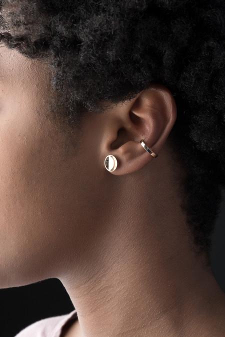 Kristen Elspeth Bar Ear Cuff In 14K Gold