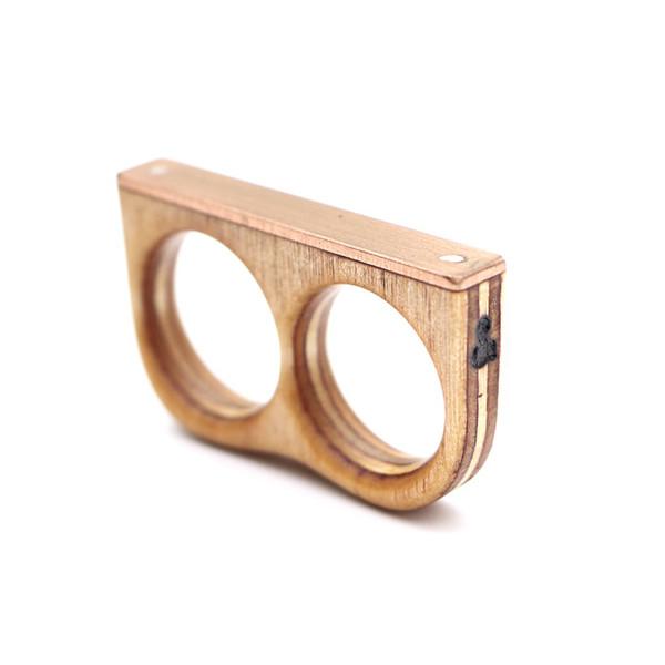 Sticks & Stones Copper Double Ring