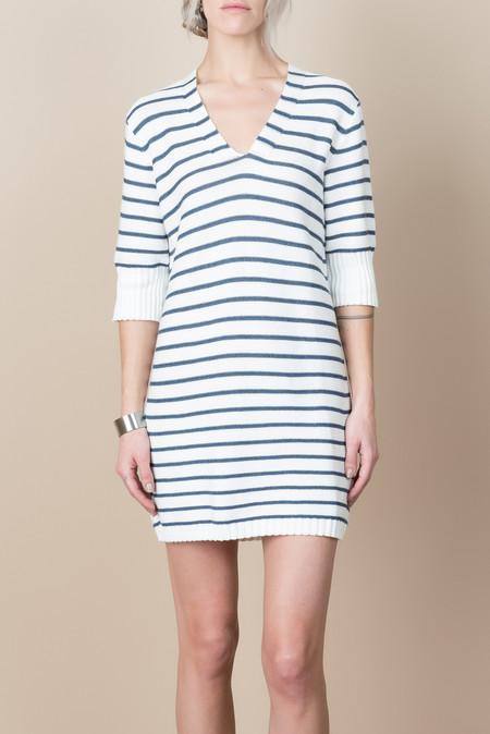 ELEVEN SIX Clare Sweater Dress In Stripe