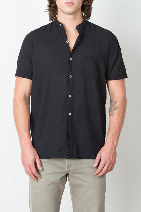 Industry of All Nations Clean Madras Mao Shirt In Iron 8Dip