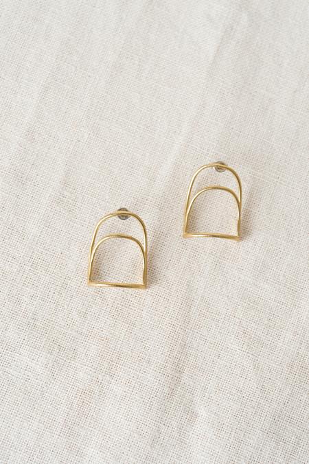 Another Feather Delos Bridge Earrings In Brass