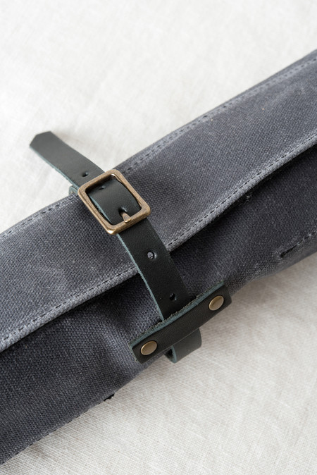 Winter Session General Tool Roll In Grey/Black Waxed Canvas