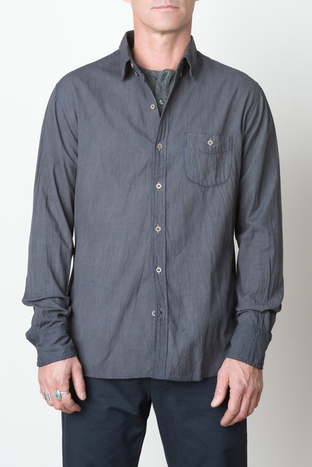 Industry of All Nations Heavy Clean Madras Shirt In Iron 2