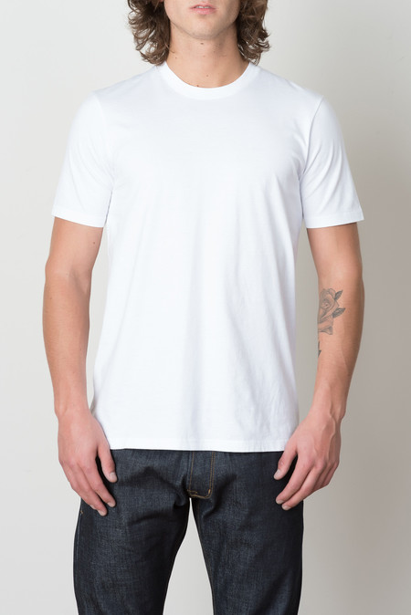 Wings + Horns Jersey Tee In White