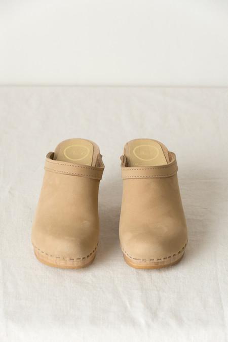 No.6 Old School Clog on High Heel In Mocha