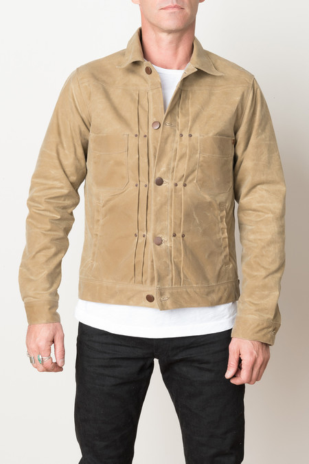 Freenote Cloth Waxed Riders Jacket In Tobacco