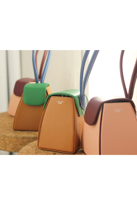 Color Block Triangle Bag- Pink