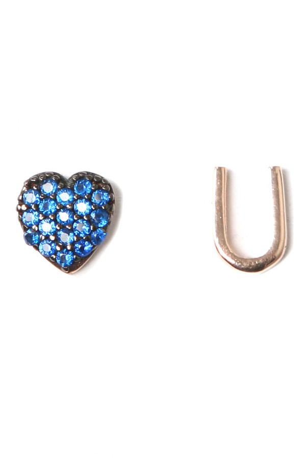 Aamaya by Priyanka Heart U Rose Gold Earrings