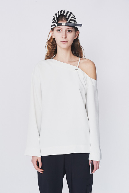 Nomia Oxford Laced Shoulder Top