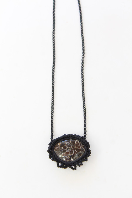 Jacki Holland Necklace Turritella Agate