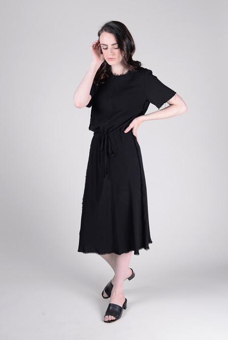 Raquel Allegra Bias Short Sleeve Dress