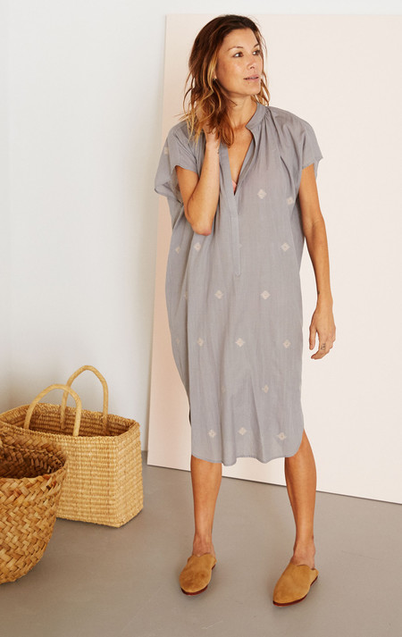 Two New York Grey two ply khadi cotton dress