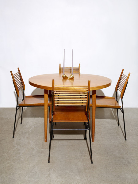 "Paul McCobb ""Planner Group"" Shovel Head Chairs and Extension Table"