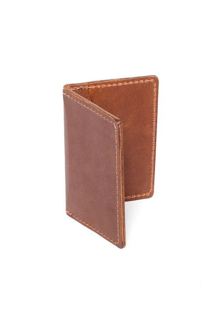 Wood & Faulk Front Pocket Wallet Natural Brown Chromexcel