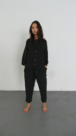 ILANA KOHN STEVEN SHIRT- FADED BLACK