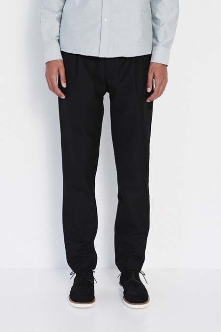 Soulland Pino Pants with Drawstring in Black