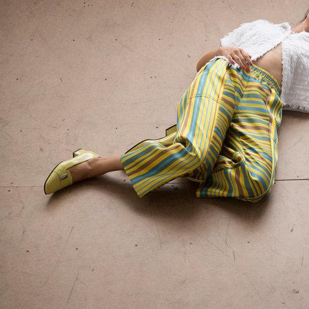 Nikki Chasin Patch Elastic Waist Pant - Yellow Stripe