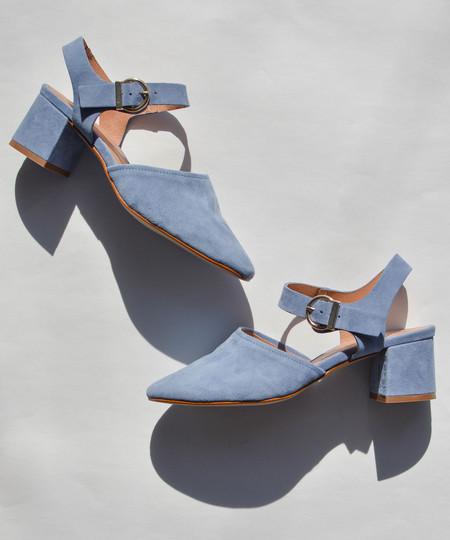 Intentionally Blank Blue Crystal Heel