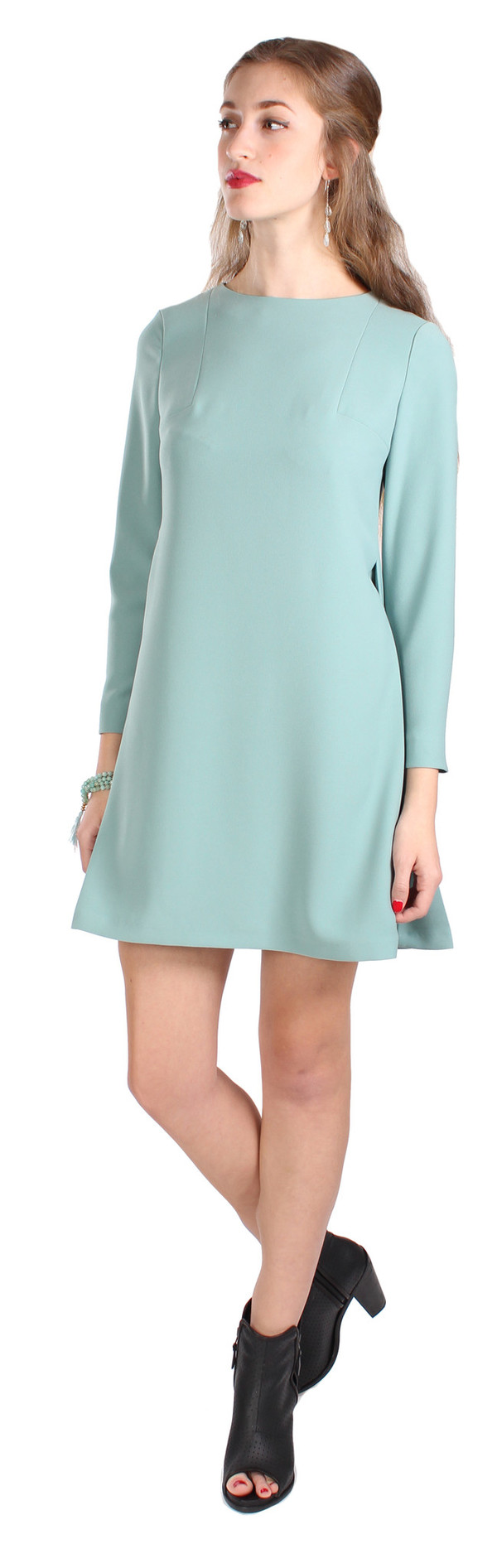 Hoss Intropia 3/4 Zipper Sleeve Dress