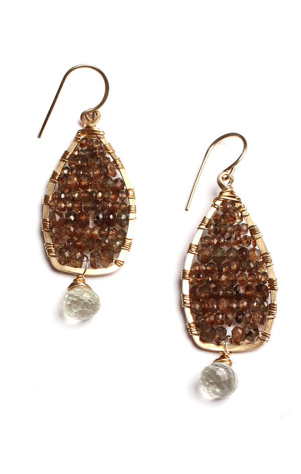 Andalucite & Green Amethyst Earrings