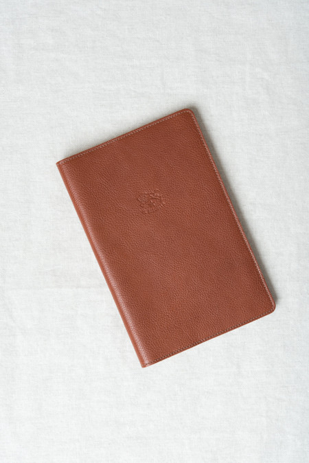 Il Bisonte Leather Journal In Cognac