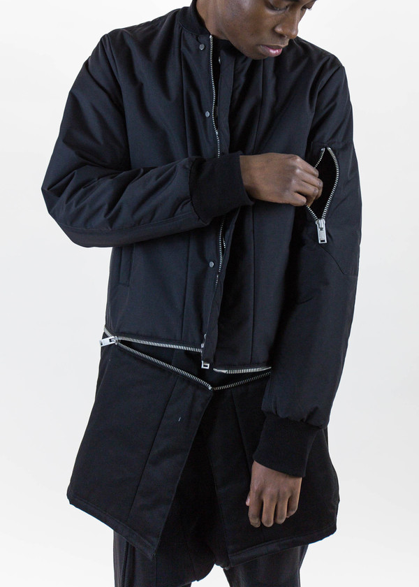 Siki Im Black Long Detachable Bomber