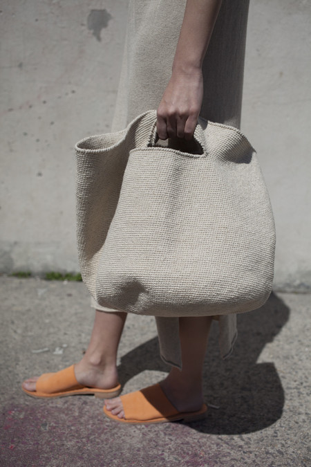 Lauren Manoogian Crochet Bowl Bag in Crudo