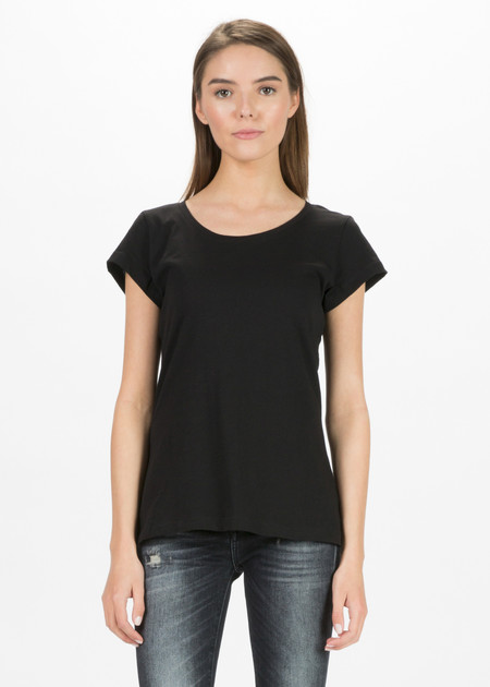 Organic by John Patrick Short Sleeve Scoop Neck Tee
