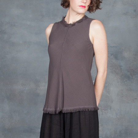 Raquel Allegra Bias Shell Sleeveless Top