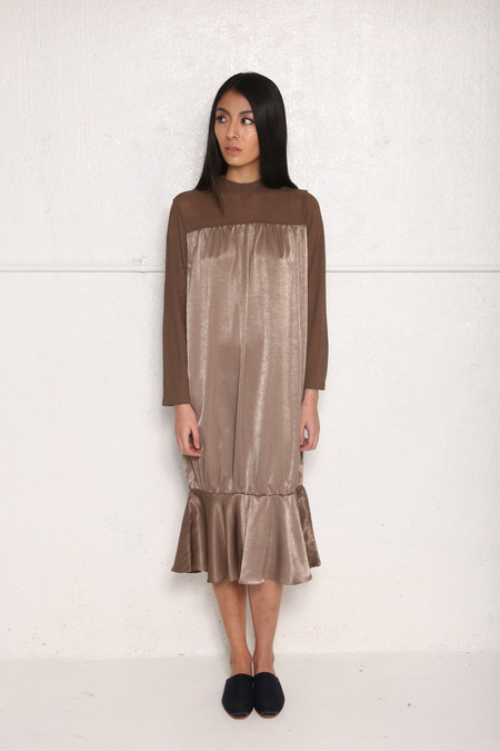 Intentionally Blank BINGHAM Dress Taupe