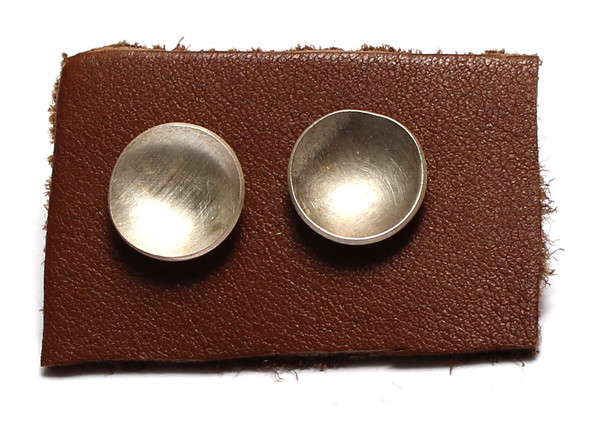 Sarah Dunn Concave Sterling Silver Studs